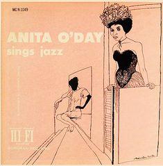"""Anita O´Day Sings Jazz Label: Norgran 1049 12"""" LP 1956  Design: David Stone Martin"""