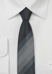 Trend-Krawatte XXL tiefschwarz grau günstig kaufen