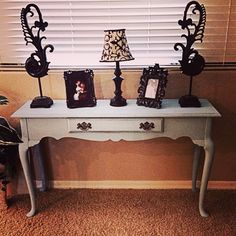 Queen Anne sofa table  Soft blue. Lovely  By She Paints in AZ