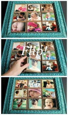 Great Photo Block Gift Idea for Christmas from Shanty-2-Chic.com // Great Christmas gift for anyone and SO EASY!