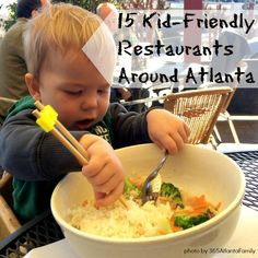 Don't let having kids in town stop you from experiencing Atlanta cuisine! Check out these 15 kid-friendly restaurants around Atlanta, Georgia.