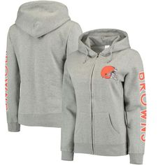 Cleveland Browns Extra Point 2-Hit Full-Zip Hoodie - Gray - $44.99