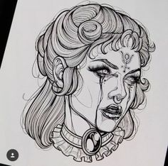 Ideas Drawing Faces Women Sketches Portraits is part of Semicolon tattoos Ideas Anchor - Semicolon tattoos Ideas Anchor Tattoo Sketches, Tattoo Drawings, Drawing Sketches, Drawing Ideas, Drawing Drawing, Medusa Drawing, Sketch Art, Woman Sketch, Woman Drawing