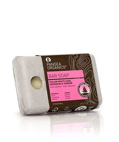 Pangea Italian White Sage Geranium & Yarrow Bar Soap oz / 106 g Organic Makeup, Organic Beauty, Organic Skin Care, Organic Bar Soap, Palm Oil, Geraniums, Lavender, Essential Oils, Cosmetics