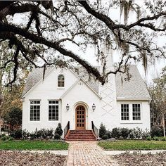 Could our house look like this on the exterior? Just add garage. Love the curb appeal!