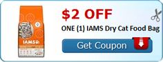 $2.00 off ONE (1) IAMS Dry Cat Food Bag