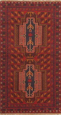 Hand Knotted Afghan Carpet 3 4 X 6 2 Kazak Tribal Wool Rug