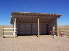 Nice looking loafing shed, but could use for bullpens. Might have to add reinforcing for more boards to keep them off wall of shed. Horse Shed, Horse Barn Plans, Horse Stables, Horse Fencing, Small Horse Barns, Cattle Barn, Barn Stalls, Horse Shelter, Sheep Shelter