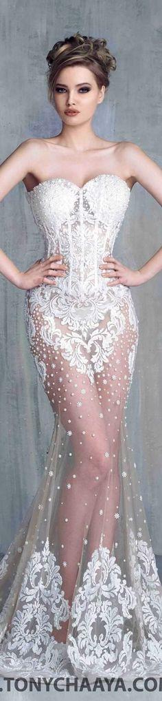 Tony Chaaya couture 2016 Una novia demasiado sexy quizas? Sorprende a todos y atrevete!