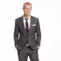 JCre: Ludlow suit jacket with double vent in glen plaid Italian wool