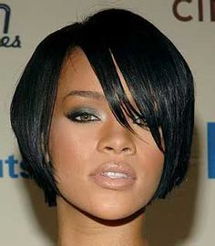 Rihanna Bob Cut Hair