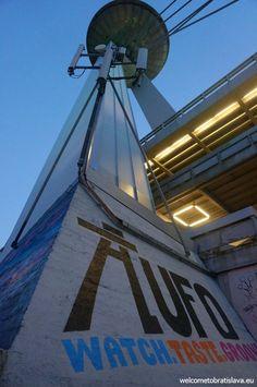BRATISLAVA BY NIGHT FREE TOUR - WelcomeToBratislava | WelcomeToBratislava - UFO Tower