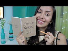 Encadernação Artesanal + Diário de Gratidão - YouTube Bullet Journal Inspiration, Scrapbook Albums, Bookbinding, Handicraft, Mini Albums, Diy, The Incredibles, Lettering, Handmade