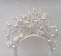 Winter Snow Queen Headband Head Piece / White by ME2Designs