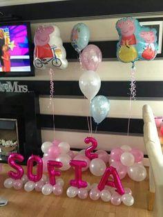 #peppa pig #theme #balloons #bellissimoballoons