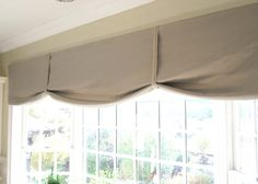 valances for kitchen windows | ... also created this simple no sew valance for the kitchen garden window