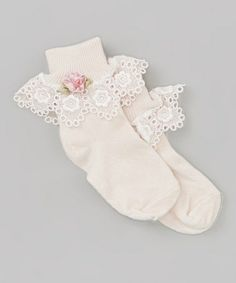 Take a look at this Rose Lace Socks by Truffles Ruffles on #zulily today! http://www.zulily.com/invite/kcrim608