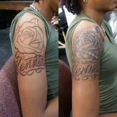 Some custom tattoo work performed by Mike Scarlett. ..