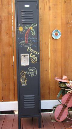 Locker- Chalkboard Magnetic Locker Locker Shelves, Locker Storage, Smart Storage, Repurposed Furniture, Industrial Furniture, Metal Lockers, Vintage Lockers, Boy Room, Kids Room