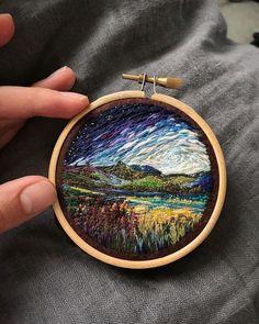 Lovely Landscape Embroidery – Fubiz Media