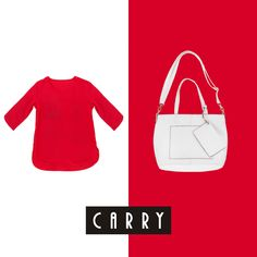 #carry#red#white#fashion