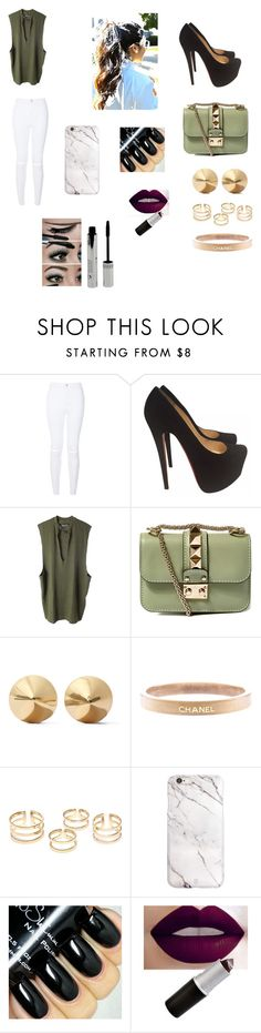 """""""#Chanel ¿¡》"""" by michelle-jovanovic ❤ liked on Polyvore featuring Christian Louboutin, adidas Originals, Valentino, Eddie Borgo, Chanel, women's clothing, women, female, woman and misses"""