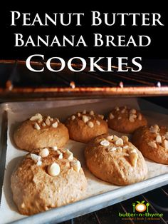 Peanut Butter Banana Bread Cookies with Macadamia Nuts
