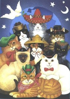 Cats of the World at Christmas
