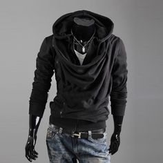 Mens edgy baggy hoodie for the edgy fashionista - Modern design offers a  cool stylish 8e5c5b0f47