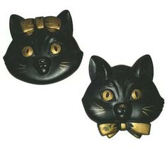 Check out this item in my Etsy shop https://www.etsy.com/ca/listing/556170325/vintage-black-cats-mr-mrs-chalkware-wall