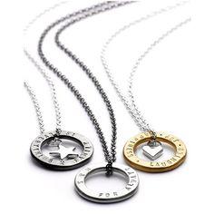 Amulett personalisiert - Amulett Halskette personalisiert - Kette mit persönlichen Texten - Baby Bundles