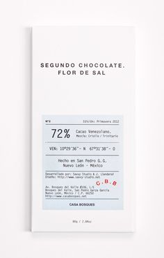 Today I would like to introduce you to the stylish and minimalist packaging of Casa Bosques Chocolates by Mexican multidisciplinary designers, Savvy Studio. Casa Bosques is a creative platform that develops products of a permanent and sustainable nature by collaborating with experts in various disciplines who share this same philosophy.