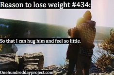 Reason to lose weight #434   So I can hug him and feel so little