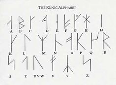 Love the idea of a word in runes