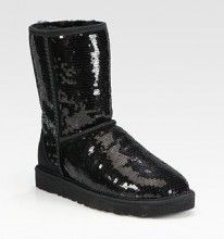 UGG AUSTRALIA Classic Short Suede Sequin Boots Black $179  http://hollyrotic.mybigcommerce.com/ugg-australia-classic-short-suede-sequin-boots-black-179/