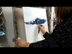 10 things to do to become an excellent painter in a few weeks – YouT … - Painting Painting Techniques Canvas, Painting Videos, Acrylic Tutorials, Art Tutorials, Pour Painting, Painting & Drawing, Palette Knife Painting, Gourd Art, Mountain Landscape
