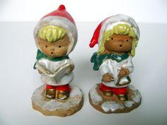 Christmas Figurine Napco Carolers Vintage Christmas Holiday Decor Japan 1950s Christmas Red