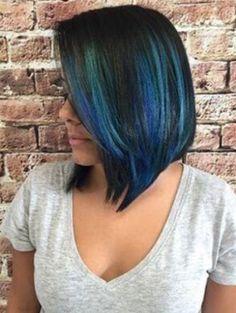 15 breathtaking pastel blue hairstyles. Blue hairstyles. Pretty blue hairstyles for women. Ideas for blue pastel hair. Two tone hairstyles. Funky hairstyles