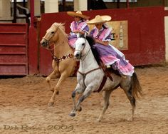 Mexican charras - sidesaddle at full gallop