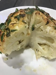 Easy Whole Baked Cauliflower woo hoo! Have a go and create the most beautiful tender and tasty Cauliflower easypeasylemonsqueezy style! so low carb too! Baked Cauliflower Whole, Tasty Cauliflower, Easy Peasy, Tray Bakes, Healthy Recipes, Healthy Food, Food To Make, Lemon, Low Carb