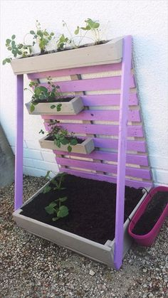 Pallet Vertical Planter - Awesome Pallet Ideas – Beautifully Made