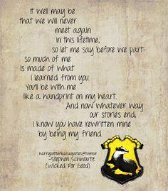 Those lyrics really do kinda sum up Hufflepuff don't they?