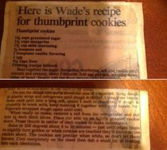 Best Thumbprint Cookies from Wades Bakery