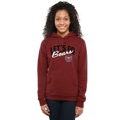 Missouri State University Bears Women's Let's Go Pullover Hoodie - Maroon