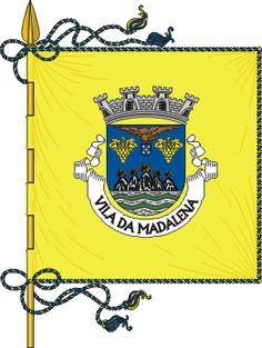 Bandeira da Vila de Madalena - Açores - Portugal