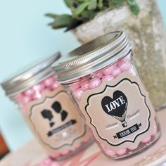 The Favors Boutique | Vintage Wedding Mini Mason Jars