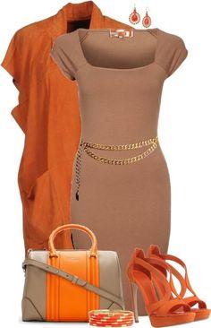 Adding Color to a Plain Dress Komplette Outfits, Classy Outfits, Fashion Outfits, Womens Fashion, Fashion Trends, Work Fashion, Fashion Looks, Daily Fashion, Mode Collage
