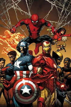 Captain America, Iron Man, Spider-Man and more by David Finch