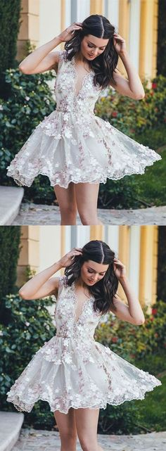 short homecoming dress,homecoming dresses,homecoming 2017 lace Short Prom Dresses