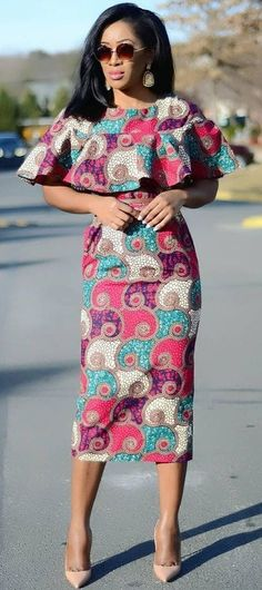 African clothing for women, African fashion, Ankara, kitenge, African women dres. - Women's style: Patterns of sustainability African Dresses For Women, African Print Dresses, African Fashion Dresses, African Attire, African Wear, African Women, African Prints, African Clothes, African History